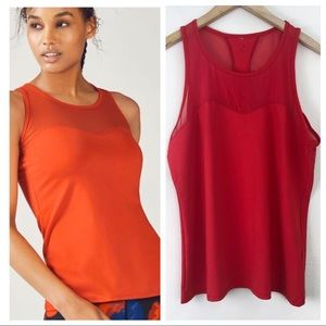 Fabletics Red Helena Mesh Tank Top Size XXL